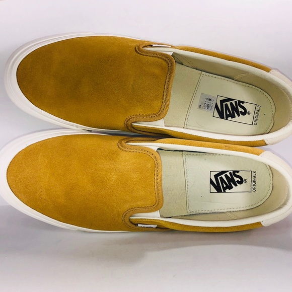 86112a263d1adf VANS OG Slip On 59 LX Suede Honey Mustard Sneakers